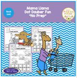 "Mama Llama Dot Dauber Fun ""No Prep"""