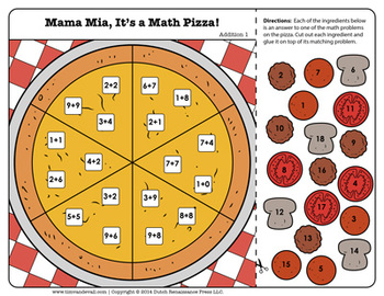 Mama Mia, Math Pizza! Addition Activity Packet