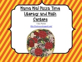 Mama Mia! Pizza Time Literacy and Math Centers for Pre-K and Kindergarten