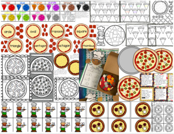 Mama Mia, Pizzeria Pizza Pack!  Math and Literacy Pizza Themed Activities