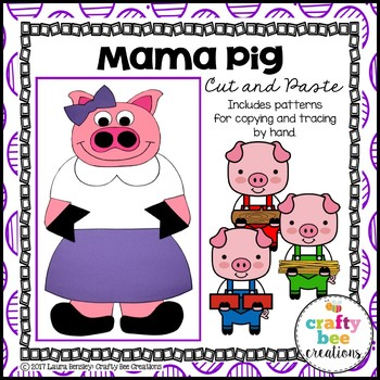Mama Pig Cut and Paste