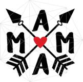 Mama SVG Arrows Crafters Mama Quotes Svg Files Queen Printables