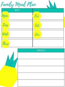 Mama + Teacher Pineapple Planner