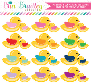 Mama and Baby Duck Clipart