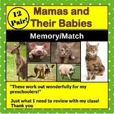 Animal Mothers and Their Babies: Memory Match