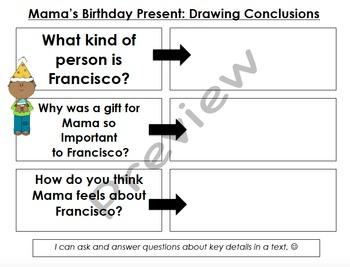 Mama's Birthday Present Organizers & Writing Activities (Reading Street 4.1)