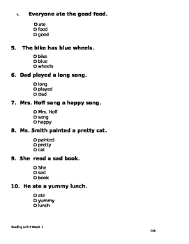 Mama's Birthday Present Phonics & Grammar:ai/ay; possessives; adjectives