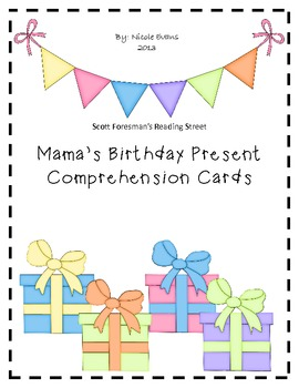 Mama's Birthday Present Comprehension Cards