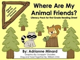 Where Are My Animal Friends? Literacy Pack - First Grade F