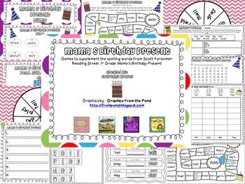 Mama's Birthday Present Spelling Games