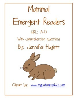 Mammal Emergent Readers - Guided Reading Levels A-D