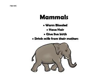 Mammal Lesson Bundle... Common Core Aligned