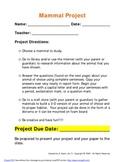 Mammal Project!