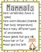 Mammals-A Science Unit for Little Learners