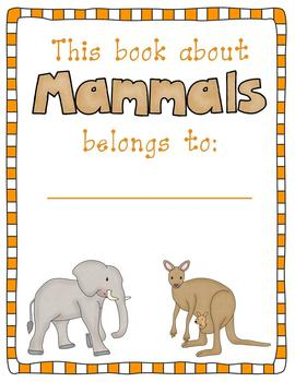 Mammals Activity Pack