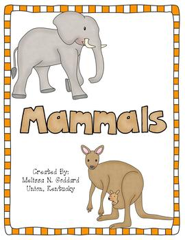 Mammals Activity Pack