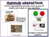 Mammals Adapted/  Interactive Book for Special Education