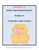 Mammals Animal Class Research Report for ELA and Science CCSS
