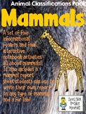 Mammals - Animal Classifications Pack - Posters & Notebook pages