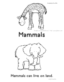 Mammals Beginning Reader