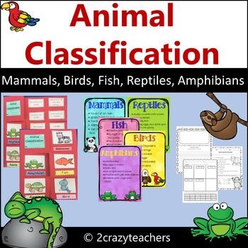 Mammal, Bird, Fish, Amphibian, and Reptile Foldable and Activities