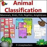Mammal, Bird, Fish, Amphibian, and Reptile Foldable For Animal Classification