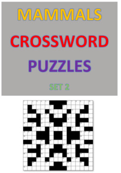Mammals Crossword Puzzles -- Set 2