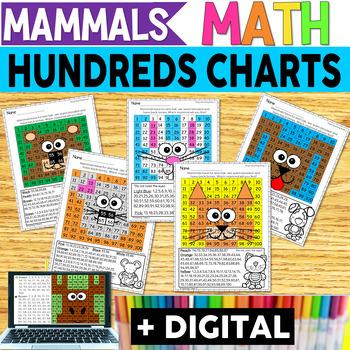 Mammals Hundreds Chart Hidden Pictures