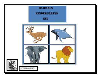 Mammals: Kindergarten. ESL. Early Primary