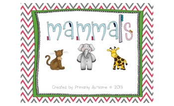 Mammals Mini-Book (For students with Autism & Communication Disorders