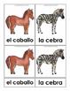 Mammals - Montessori 3 Part Cards in English and Spanish