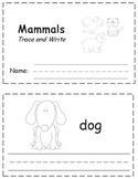 Mammals Trace & Write Book