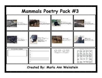 Mammals Poetry Pack #3