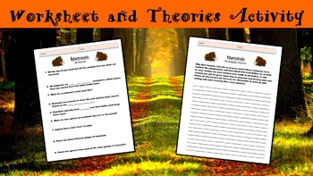 Mammals No Prep Lesson with Power Point, Worksheet, and Theories Activity