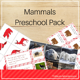 Mammals Preschool Pack