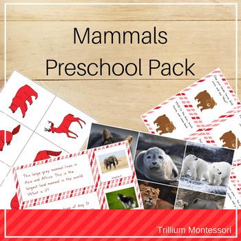 Mammals Preschool Pack