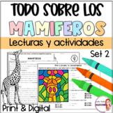 Mammals/Reading passages in Spanish/ Mamiferos/Lecturas de comprension