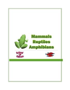 Mammals, Reptiles, and Amphibians Lesson Plan