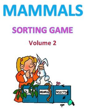 Mammals Sort Game Volume 2