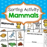 Mammals Sorting Activities