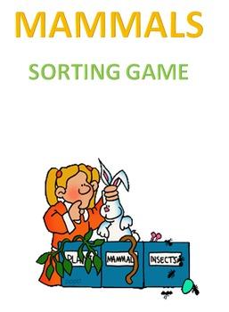 Mammals Sorting Game Volume 1