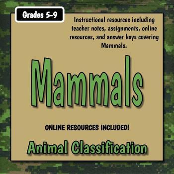 Mammals Teacher Notes & Assignments