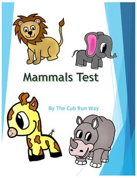 Mammals Test