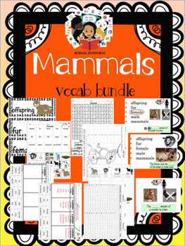 Mammals Vocab Bundle - ESL