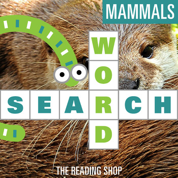 Mammals Word Search for Primary Grades - Wordsearch Puzzle