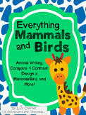 Mammals and Birds Unit - Center Work, Take Home, and Class