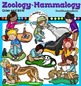 Mammals clip art Bundle clip art. Color and B&W- 82 items!