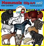Mammals clip art set3 - color and B&W-