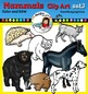 Mammals clip art set3 - color and B&W-