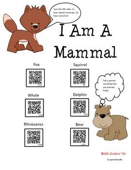 Mammals using QR Codes Listening Center